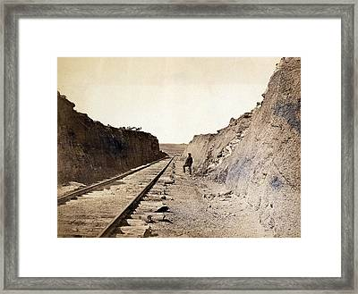 Malloys Cut Central Pacific Railroad Photograph By Everett