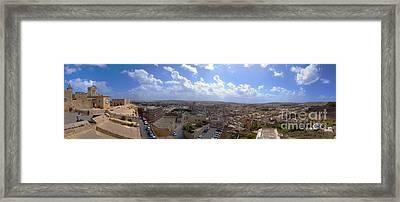 Malta Panoramic View Of Valletta  Framed Print by Guy Viner