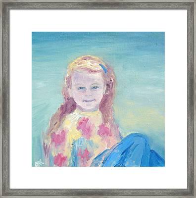 Malve Portrait Framed Print by Barbara Anna Knauf