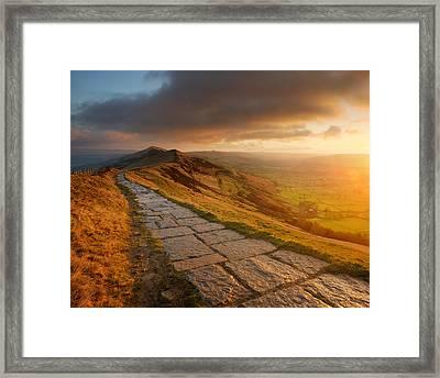 Mam Tor Sunrise, Peak District Framed Print by Chris Hepburn