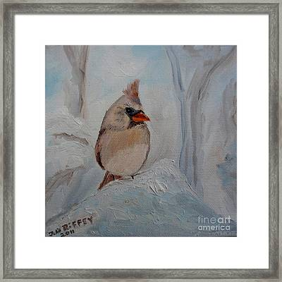 Framed Print featuring the painting Mama's On Her Way Home by Julie Brugh Riffey