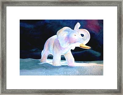 Framed Print featuring the painting Mama's White Elephant by Sharon Mick