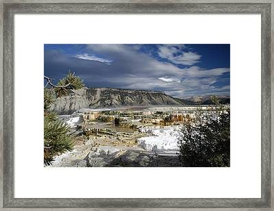 Framed Print featuring the photograph Mammoth Hot Springs by Geraldine Alexander