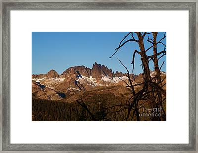 Mammoth Mountain California And Devils Postpile National Monument With Spires Framed Print by ELITE IMAGE photography By Chad McDermott