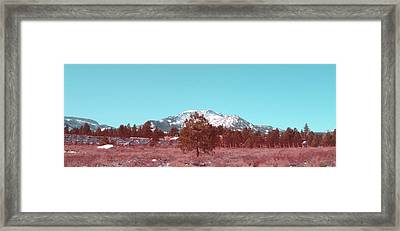 Mammoth Mountain Framed Print by Naxart Studio