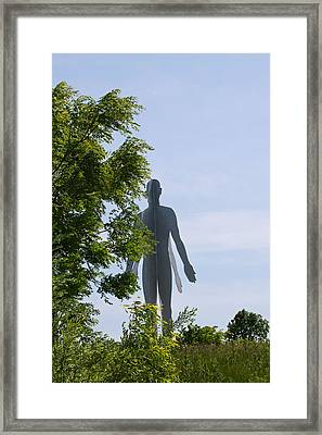 Framed Print featuring the photograph Man And Nature by Kate Purdy