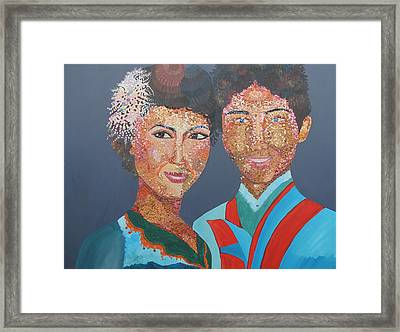 Man And  Wife Framed Print by Mao Soviet and  phin Sophorn