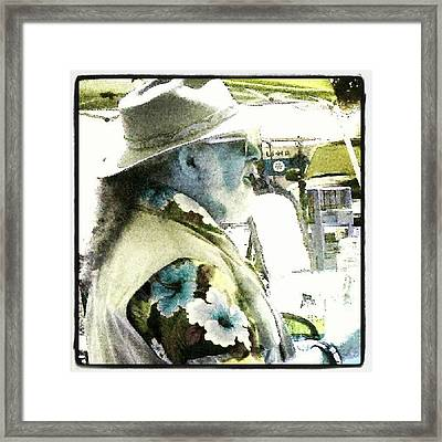 Man #android #andrography #abstract Framed Print