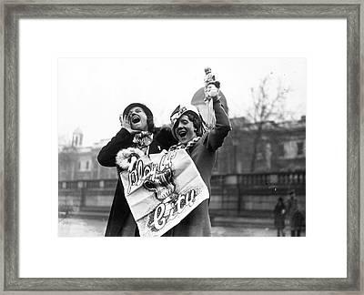 Man City Maidens Framed Print by E Dean