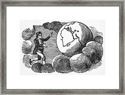 Man, Earth & Clouds Framed Print