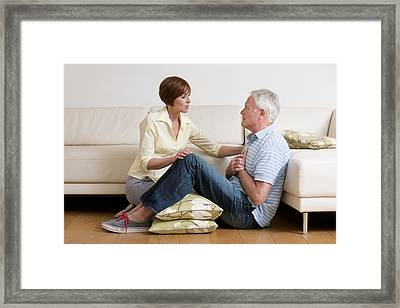 Man Having A Heart Attack Framed Print by
