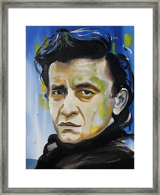 Man In Black Framed Print by Matt Burke