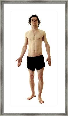 Man In Boxer Shorts Framed Print by Neal Grundy