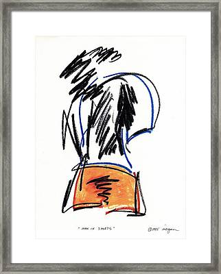 Man In Shorts  Framed Print