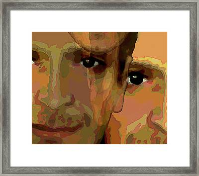 Framed Print featuring the painting Man In The Mirror 1 by Jann Paxton