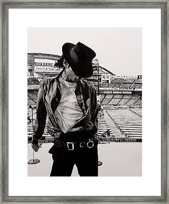 Man In The Mirror Framed Print by Mike  Haslam