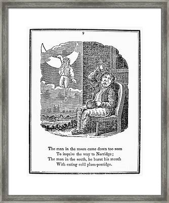 Man In The Moon, 1833 Framed Print