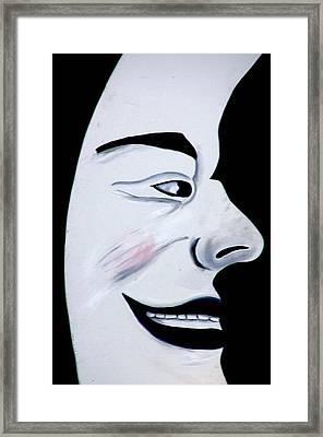 Man In The Moon Framed Print by Jeff Lowe