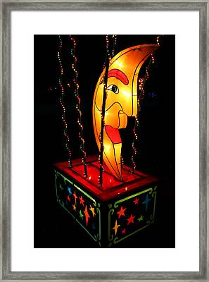 Man In The Moon Lantern Framed Print by Greg Matchick