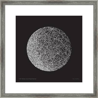 Man In The Moon-shape Framed Print by Michael Landa
