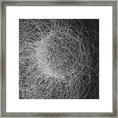 Man In The Moon-stucture Framed Print by Michael Landa