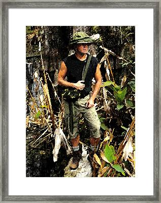 Man In The Wilderness Framed Print