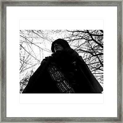 #man #movie #cape #sci-fi #tree Framed Print