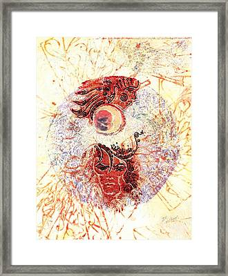 Man Of Flowers Framed Print by Ingrid  Schmelter