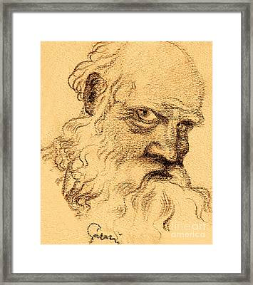 Man Portrait Framed Print