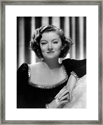 Man-proof, Myrna Loy, Mgm Portrait Framed Print by Everett