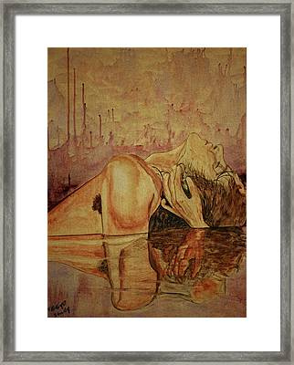 Framed Print featuring the painting Man by Teresa Beyer