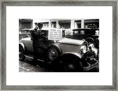 Man Trying To Sell His Expensive Car Framed Print