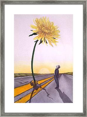 Man Vs. Nature Framed Print by Michelle Harrington