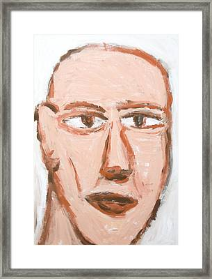 Man With A Scar On His Face Framed Print by Kazuya Akimoto