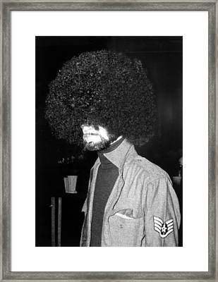 Man With An Afro, New York City, June Framed Print by Everett