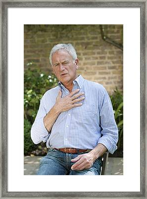 Man With Angina Framed Print by
