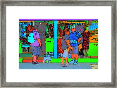 Man With Dog Framed Print by Richard Ortolano