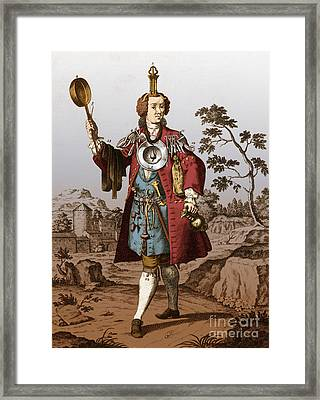 Man With Surgical Equipment Framed Print by Science Source