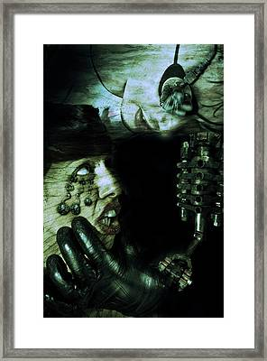 Man Woman Machine Framed Print by Nathan Wright
