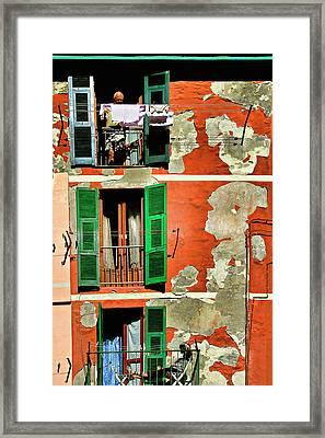 Manarola Apartment Framed Print