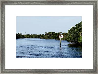 Manatee Zone Framed Print by Vanessa Parent