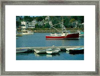 Manchester Harbor Manchester By The Sea Ma   Framed Print by Stephen Prunier