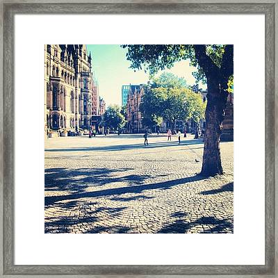 #manchester #manchesterpiccadilly Framed Print