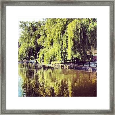 #manchestercanal #canal #river Framed Print
