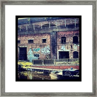 #manchestercanal #manchester #canal #uk Framed Print by Abdelrahman Alawwad