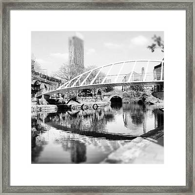 #manchestercanal #manchester #city Framed Print by Abdelrahman Alawwad