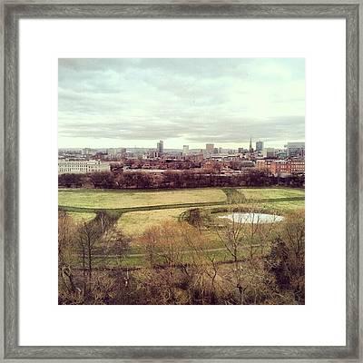 #manchestercitycenter #manchester #city Framed Print
