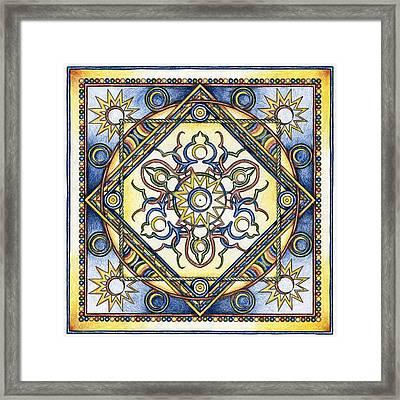 Mandala Of The Sun Framed Print by Hakon Soreide