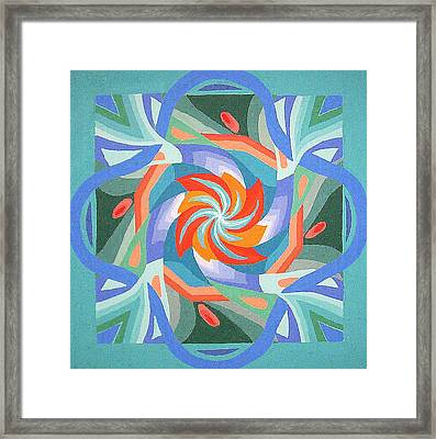 Framed Print featuring the painting Mandala by Rachel Hames