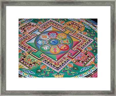 Mandala Framed Print by Sheila Silverstein